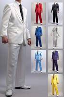 カラーサテンスーツ
