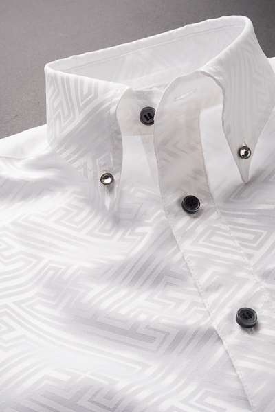 モノトーン和柄シャツ