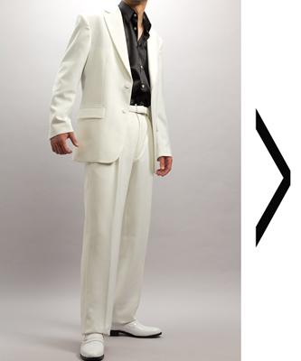 シングル白スーツ