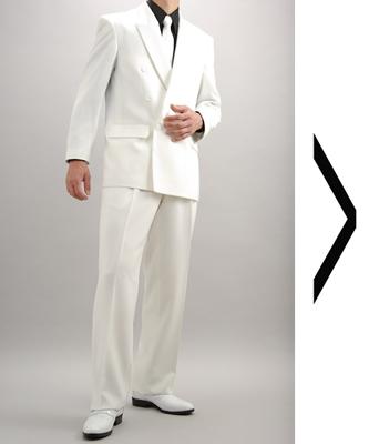 ダブル白スーツ
