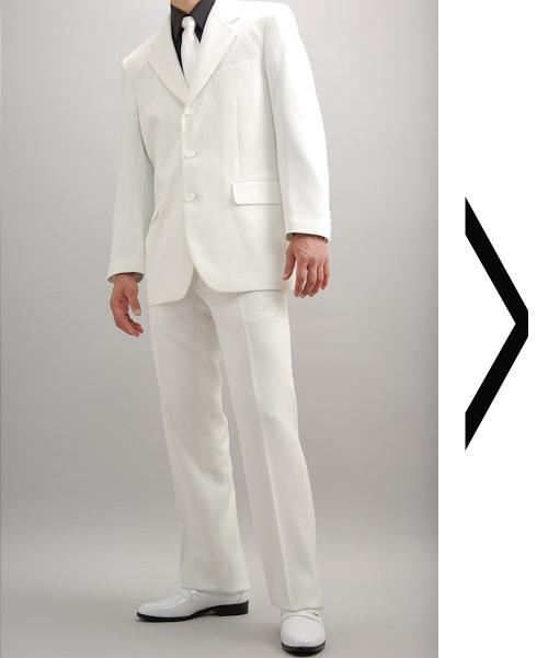 白スーツ|シングル3つボタン