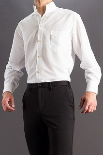 オープンスタンドカラーシャツ スワロフスキー