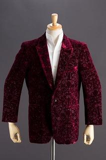 花柄ラメクラッシュベルベットジャケット