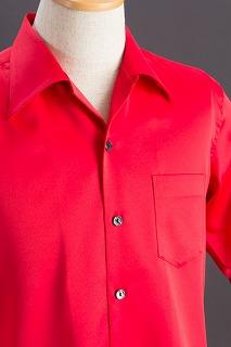 赤いオープンカラーシャツ販売店
