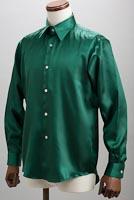 サテンシャツサテンシャツモスグリーン
