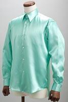 サテンシャツミントグリーン