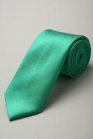 サテンネクタイ37色 グリーン