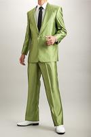 【シャンブレースーツ】シングル グリーン