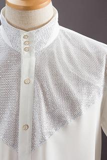 ラメスタンドカラーシャツ