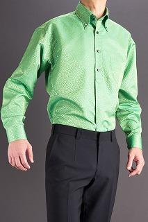 スノーダスト模様のシャツきみどり