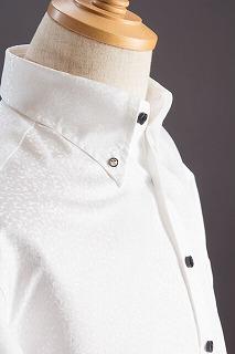 スノーダスト模様のシャツ ホワイト