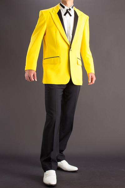 シングル1ボタンパイピングジャケット黄色