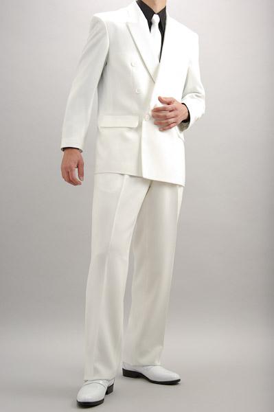 カラースーツ ダブル ホワイト 2タックパンツモデル