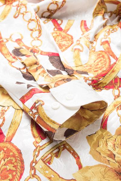 エルメス風の柄シャツ
