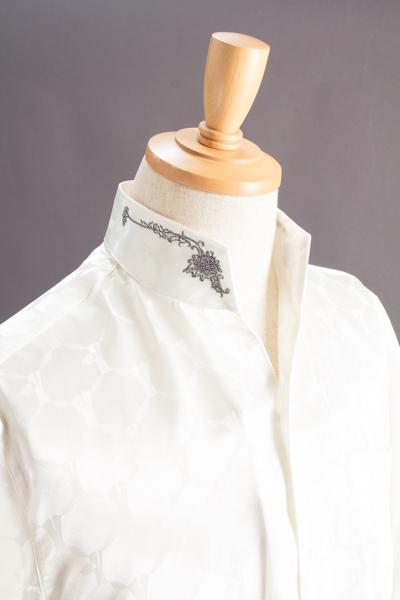 スタンドカラーシャツ オープンタイプの画像