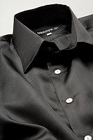 サテンシャツブラック