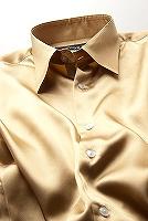 サテンシャツゴールド