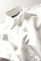 サテンシャツパールホワイト