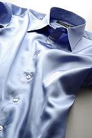 サテンシャツすみれ色