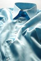 サテンシャツライトブルー
