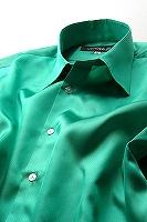 サテンシャツグリーン