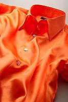 サテンシャツオレンジ
