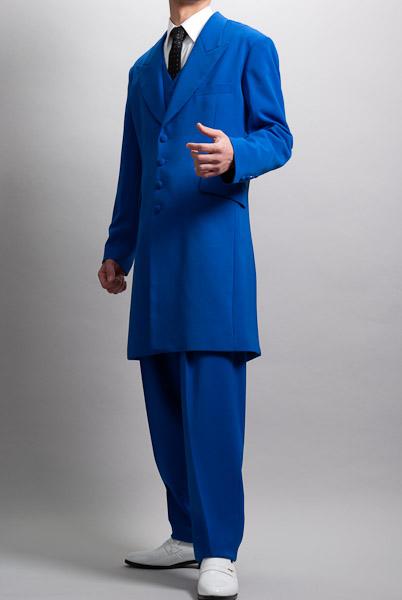ズートスーツ・zoot suit  ブルー