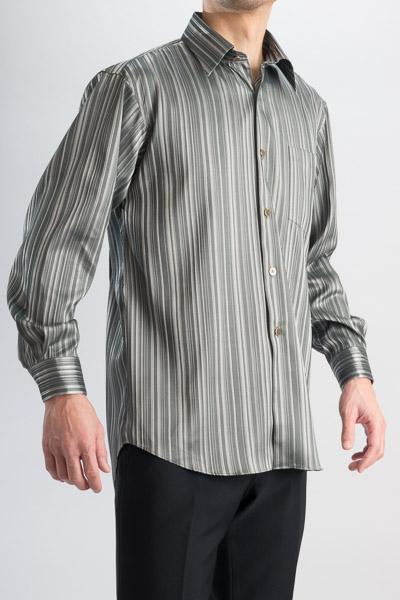 ジャガード レギュラーカラーシャツ タイ付 #4m482 シルバー