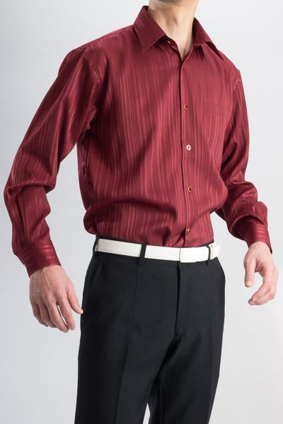 ジャガード レギュラーカラーシャツ タイ付 #4m482 ワインレッド