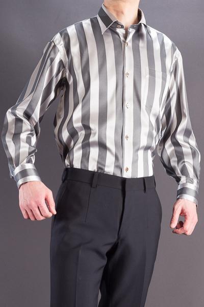 ブロックストライプシャツ#4553