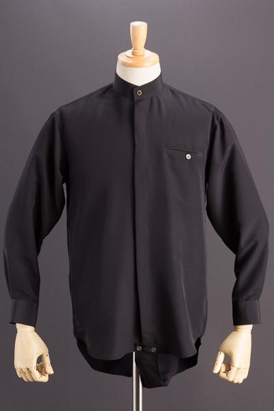 スタンドカラーシャツ【ダンス仕様レオタードタイプ】ブラック