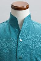 オープンスタンドカラーシャツジャガード #n4288