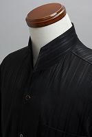 オープンスタンドカラーシャツジャガード #n4533