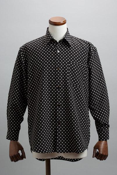 ドット柄レギュラーカラーシャツ #r4552