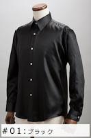 サテンシャツブラック #01の画像