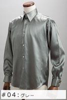 サテンシャツグレー #04の画像