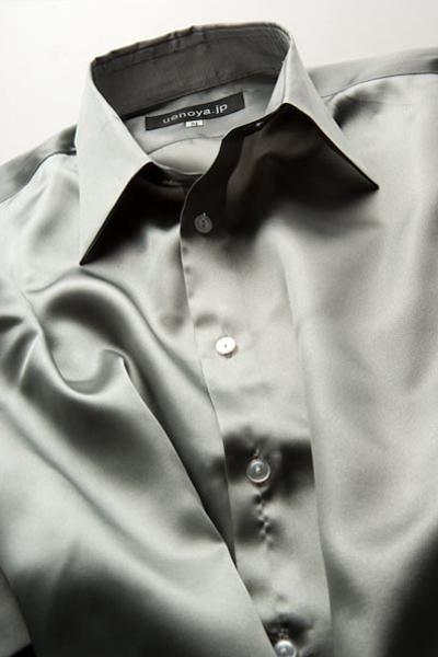 サテンシャツグレー #04