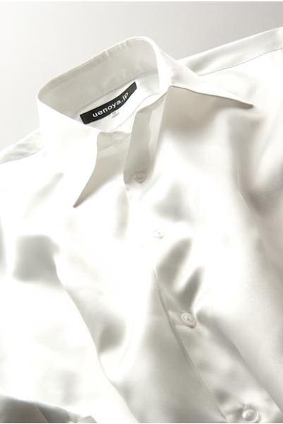 サテンシャツパールホワイト #06
