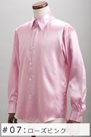 サテンシャツローズピンク #07の画像