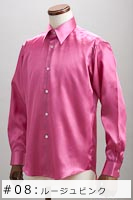 サテンシャツルージュピンク #08の画像