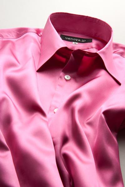 サテンシャツルージュピンク #08