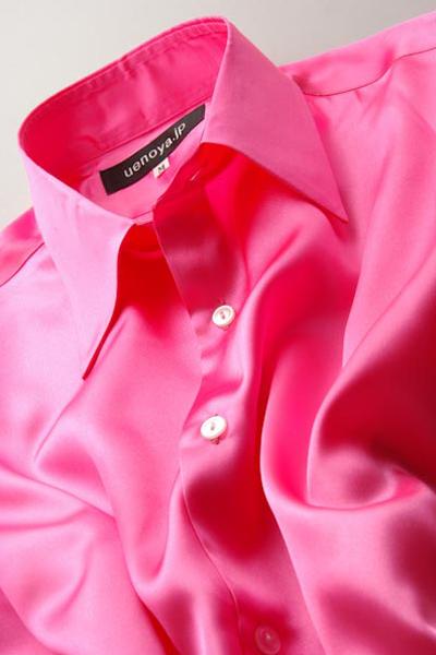 サテンシャツショッキングピンク #09