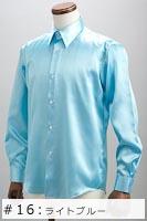 サテンシャツライトブルー #16の画像