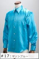 サテンシャツマリンブルー #17の画像