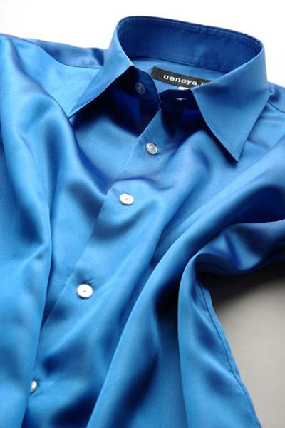 サテンシャツロイヤルブルー #18