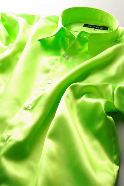 サテンシャツライムグリーン #24