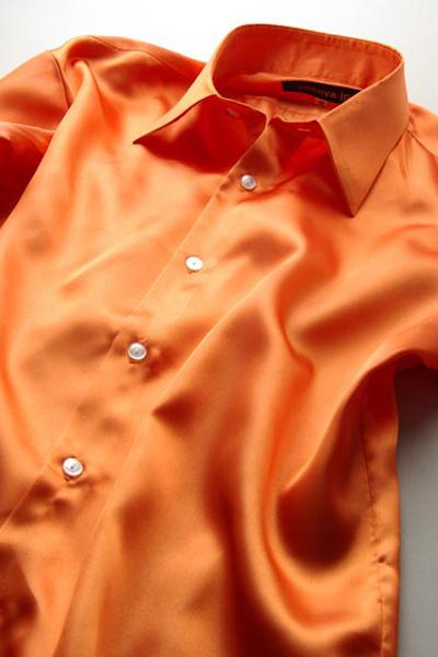 サテンシャツキャロットオレンジ #30