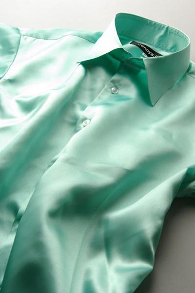 サテンシャツミントグリーン #31