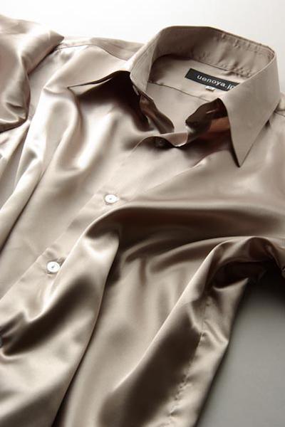 サテンシャツカーキ #33