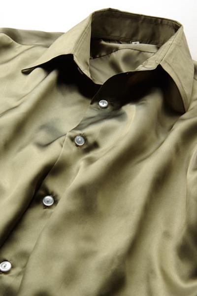 サテンシャツオリーブ #34